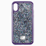 Pouzdro na chytrý telefon Glam Rock s ochranným okrajem, iPhone® X/XS, fialové - Swarovski, 5449517