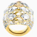 Notorious 鸡尾酒戒指, 彩色设计, 镀金色调 - Swarovski, 5449522