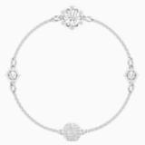 Swarovski Remix Collection Strand Snowflake, blanco, Baño de Rodio - Swarovski, 5451035