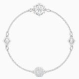 Swarovski Remix Collection Strand Snowflake, blanco, Baño de Rodio - Swarovski, 5451036