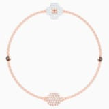 Swarovski Remix Collection Clover Strand, White, Rose-gold tone plated - Swarovski, 5451088