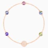 Swarovski Remix Collection Purple Strand, Multi-colored, Rose-gold tone plated - Swarovski, 5451089