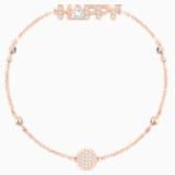 Swarovski Remix Collection Happy Strand, White, Rose-gold tone plated - Swarovski, 5451090