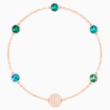 Swarovski Remix Collection Green Strand, multicolor, Baño en tono Oro Rosa - Swarovski, 5451093