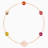 Swarovski Remix Collection Orange Strand, Multi-colored, Rose-gold tone plated - Swarovski, 5451094