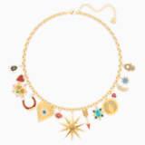 Lucky Goddess Charms 项链, 彩色设计, 镀金色调 - Swarovski, 5451263