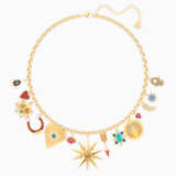 Lucky Goddess Charms Necklace, Multi-colored, Gold-tone plated - Swarovski, 5451263