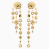 Nemesia Pierced Earring Jackets, Multi-colored, Gold-tone plated - Swarovski, 5451400