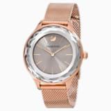 Zegarek Octea Nova, bransoleta Milanese, szary, powłoka PVD w odcieniu różowego złota - Swarovski, 5451634