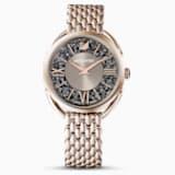 Ρολόι Crystalline Glam, μεταλλικό μπρασελέ, γκρι, PVD σε σαμπανί χρυσή απόχρωση - Swarovski, 5452462