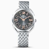 Crystalline Glam Watch, Metal bracelet, Gray, Stainless steel - Swarovski, 5452468
