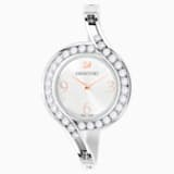 Montre Lovely Crystals Bangle, Bracelet en métal, blanc, acier inoxydable - Swarovski, 5452492