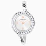 Orologio Lovely Crystals Bangle, Bracciale di metallo, bianco, acciaio inossidabile - Swarovski, 5452492