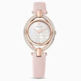 Stella Watch, Leather Strap, Pink, Rose-gold tone PVD - Swarovski, 5452507
