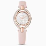 Stella karóra, bőrszíj, rózsaszín, rozéarany árnyalatú PVD - Swarovski, 5452507