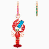 Ocean Lobster Pierced Earrings, Multi-colored, Rose-gold tone plated - Swarovski, 5452555