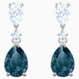 Vintage bedugós fülbevaló, kék, ródium bevonattal - Swarovski, 5452579