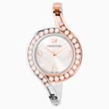 Lovely Crystals Bangle 手錶, 金屬手鏈, 白色, 雙色PVD - Swarovski, 5453651
