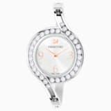 Montre Lovely Crystals Bangle, Bracelet en métal, blanc, acier inoxydable - Swarovski, 5453655