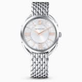 Crystalline Glam-horloge, Metalen armband, Wit, Roestvrij staal - Swarovski, 5455108