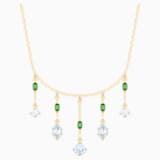 Oz Necklace, White, Gold-tone plated - Swarovski, 5455519