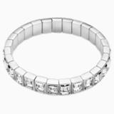 Bracelet-jonc Fluid, gris, Métal plaqué palladium - Swarovski, 5455646