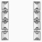 Boucles d'oreilles drop Fluid, gris, Métal plaqué palladium - Swarovski, 5455657
