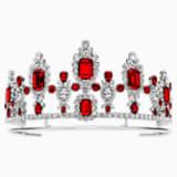Anna Dello Russo Tiara, Red, Palladium plating - Swarovski, 5455685