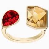 Prisma Ring, Multi-colored, Gold-tone plated - Swarovski, 5456762