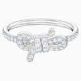 Prsten Lifelong, malý, bílý, rhodiovaný - Swarovski, 5457269