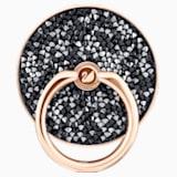 Glam Rock gyűrűs matrica, fekete, vegyes bevonatú - Swarovski, 5457469