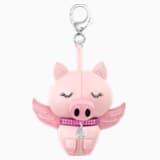 Bu Bu Подвеска на сумку, Розовый Кристалл, родиевое покрытие - Swarovski, 5457470