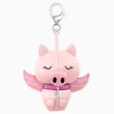 Přívěsek na kabelku Bu Bu, růžový, rhodiovaný - Swarovski, 5457470