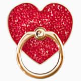 Anneau autocollant Glam Rock, rouge, combinaison de métaux plaqués - Swarovski, 5457473