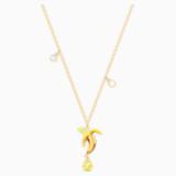 Colgante No Regrets Banana, multicolor, Baño en tono Oro - Swarovski, 5457504