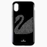 Swan Fabric Smartphone case with integrated Bumper, iPhone® X/XS, Black - Swarovski, 5458420