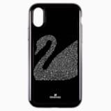 Coque rigide pour smartphone avec cadre amortisseur intégré Swan Fabric, iPhone® X/XS, noir - Swarovski, 5458420