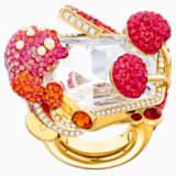 Optimum Cocktail Ring, Multi-coloured, Gold-tone plated - Swarovski, 5458832