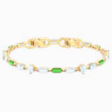 Oz Bracelet, White, Gold-tone plated - Swarovski, 5459392