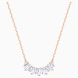 Sunshine Necklace, White, Rose-gold tone plated - Swarovski, 5459590