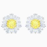 Sunshine Ohrringe, weiss, Rhodiniert - Swarovski, 5459591