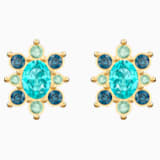 Lucky Goddess Pierced Earrings, Multi-colored, Gold-tone plated - Swarovski, 5461791
