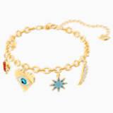 Pulsera Lucky Goddess Charms, multicolor, Baño en tono Oro - Swarovski, 5461796