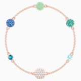 Swarovski Remix Collection Pop Strand, 綠色, 鍍玫瑰金色調 - Swarovski, 5462653