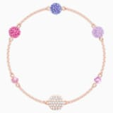 Swarovski Remix Collection Pop Strand, violet, Métal doré rose - Swarovski, 5462654
