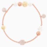 Swarovski Remix kollekció gyöngy lánc, többszínű, rózsaarany árnyalatú bevonattal - Swarovski, 5464297
