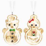 雪人造型的姜饼人挂饰 - Swarovski, 5464885