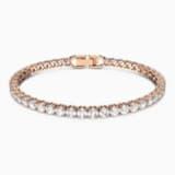 Pulsera Tennis, blanco, Baño en tono Oro Rosa - Swarovski, 5464948