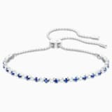 Subtle Bracelet, Blue, Rhodium plated - Swarovski, 5465383