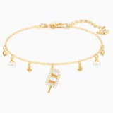 No Regrets Ice Cream Bracelet, Multi-coloured, Gold-tone plated - Swarovski, 5465411